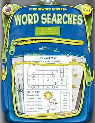 Word Searches, Homework Helpers, Grades K-1