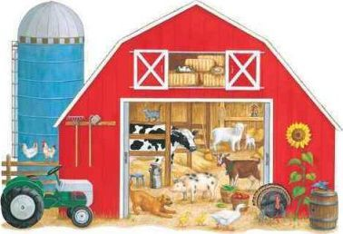 What's in the Big Red Barn? Floor Puzzle