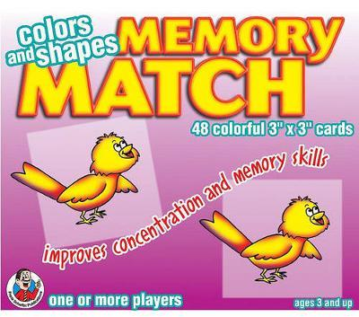Colors and Shapes Memory Match Game