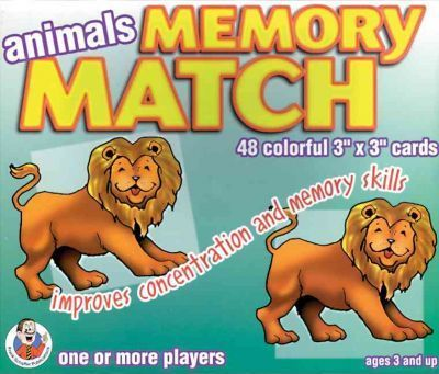 Animals Memory Match Game