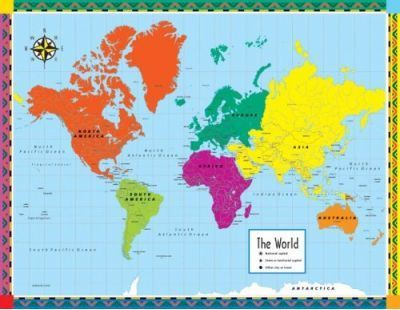 Map of the World Cheap Chart