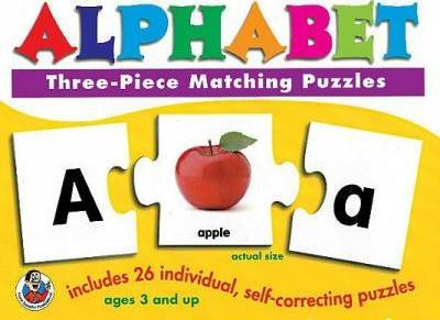 Alphabet Three-Piece Matching Puzzles
