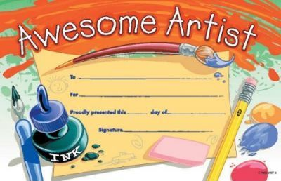 Awesome Artist Certificate