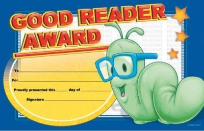 Mr. Wiggle Good Reader Pat-On-The-Back Award
