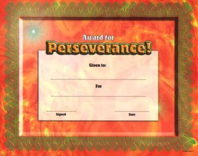 Fit-In-A-Frame Award for Perseverance