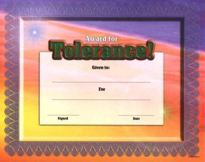 Fit-In-A-Frame Award for Tolerance