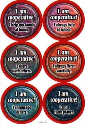 Character Education: Cooperation Wear 'em Award Badges
