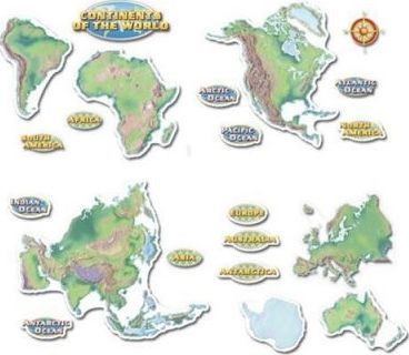Continents of the World Bulletin Board Set