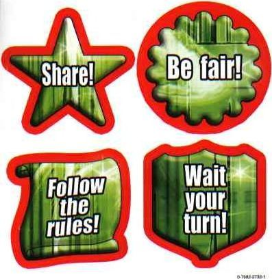 Character Education: Fairness Shape Stickers