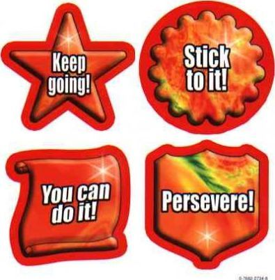 Character Education: Perseverance Shape Stickers