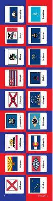 State Flags Shape Stickers