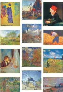Impressionist Self-Adhesive Photo Stickers
