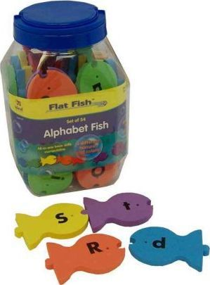 Alphabet Flat Fish Set