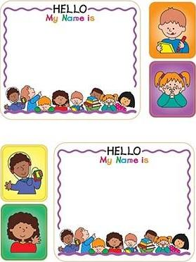 Kids Name Tags Sticker Pack