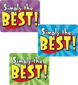 Simply the Best! Self-Adhesive Reward Stickers