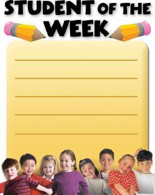 Student of the Week Cheap Chart