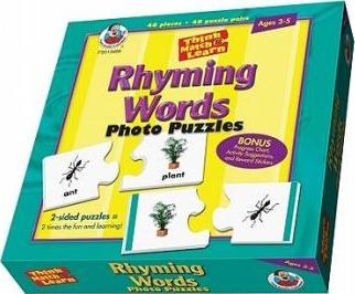 Think, Match and Learn Rhyming Words Photo Puzzles