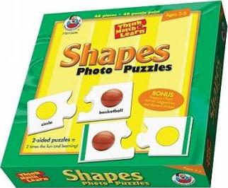 Think, Match & Learn Shapes Photo Puzzles