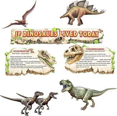 If Dinosaurs Lived Today Bulletin Board Set