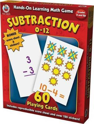 Subtraction 0-12 Board Game