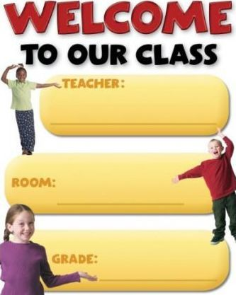 Welcome to Our Class Back to School Cheap Chart