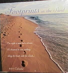 Footprints in the Sand 2001 Calendar