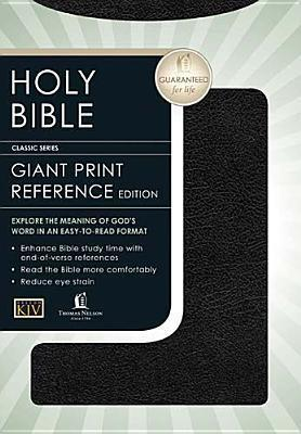 Holy Bible King James Version Personal Size Giant Print / Black Leather