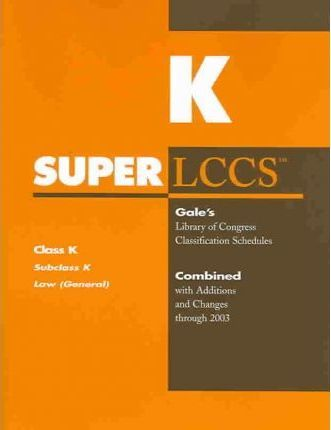 Superlccs 2003: Schedule K Law General