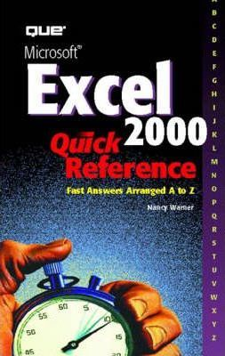 Microsoft Excel 2000 Quick Reference