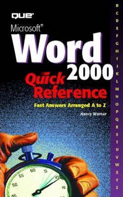 Microsoft Word 2000 Quick Reference