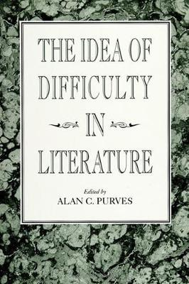 The Idea of Difficulty in Literature