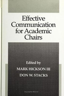 Effective Communication for Academic Chairs