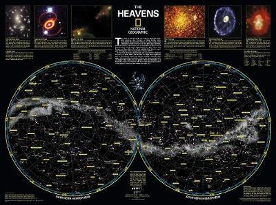 The Heavens, Laminated  Wall Maps Space