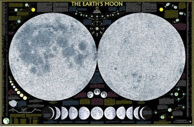 The Earth's Moon Flat