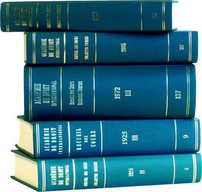 Recueil des cours, Collected Courses, Tome/Volume 205 (1987)