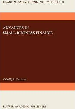 Advances in Small Business Finance