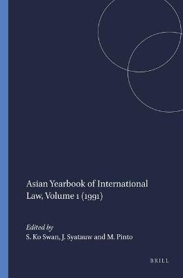 Asian Yearbook of International Law, Volume 1 (1991)