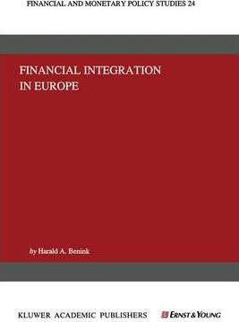 Financial Integration in Europe