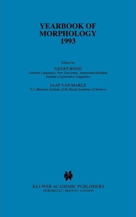 Yearbook of Morphology 1993