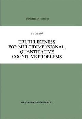 Truthlikeness for Multidimensional, Quantitative Cognitive Problems