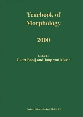 Yearbook of Morphology 2000