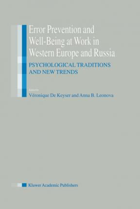 Error Prevention and Well-Being at Work in Western Europe and Russia