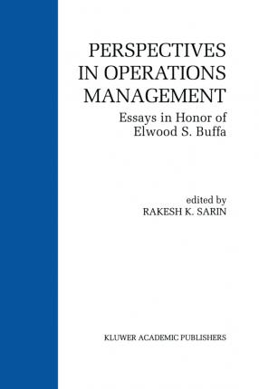 Perspectives in Operations Management
