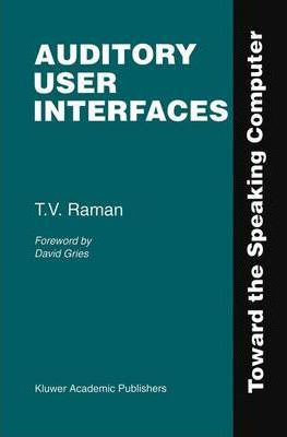 Auditory User Interfaces