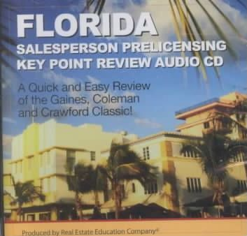Florida Salesperson Prelicensing Key Point Review