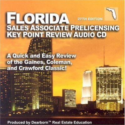 Florida Salesperson Prelicensing Key Point Review Audio CD