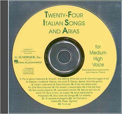 Twenty-Four Italian Songs and Arias for Medium High Voice