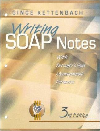 Writing Soap Notes: with Patient/Client Management Formats : Ginge