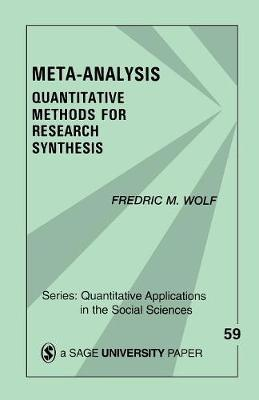 Meta-Analysis: Quantitative Methods for Research Synthesis