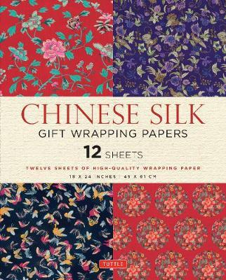 Chinese Silk Gift Wrapping Papers : 12 Sheets of High-Quality 18 x 24 inch Wrapping Paper